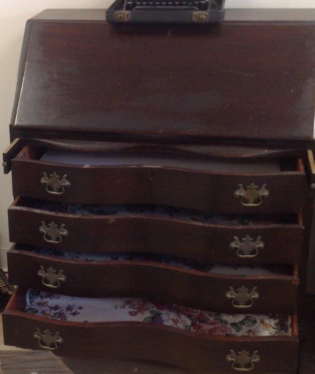 Antique Chippendale Secretary Desk 42 x 36 - 5