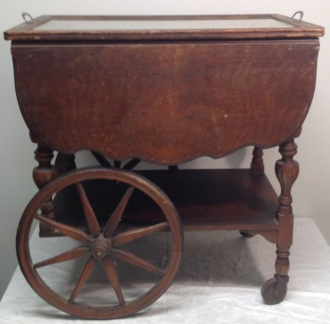 Early 20th C. Tea Cart/ Tray 29 x 18 x 28