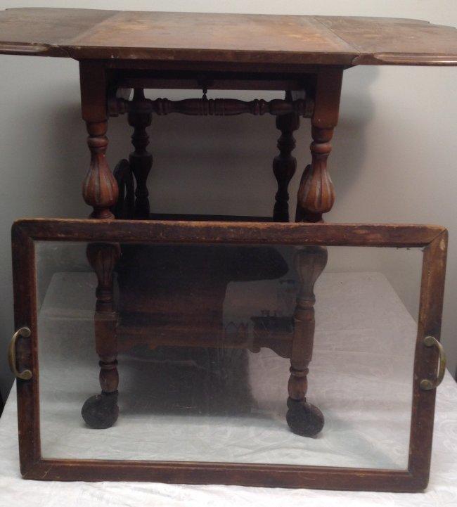 Early 20th C. Tea Cart/ Tray 29 x 18 x 28 - 5