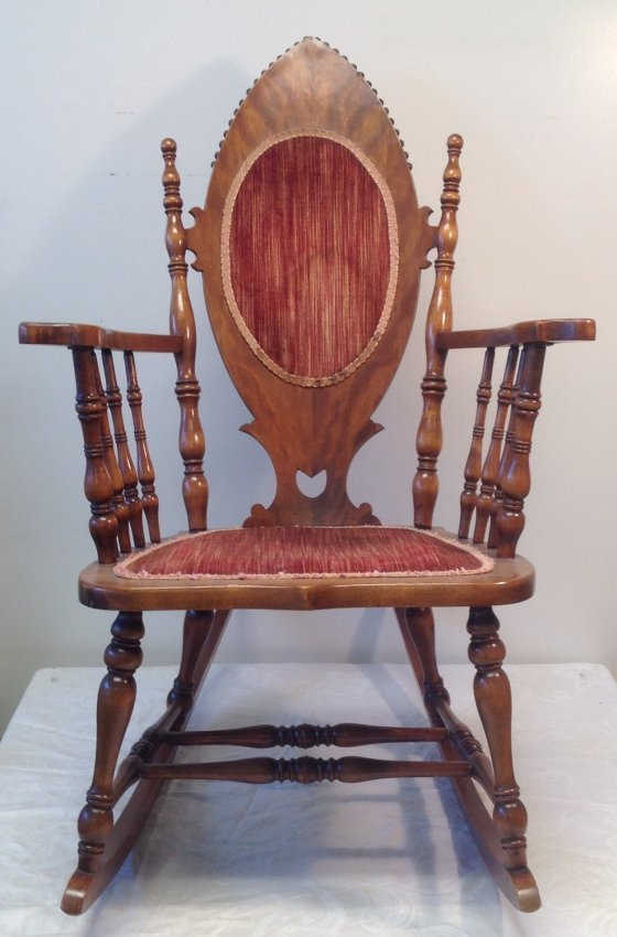 Antique Oak Rocking Chair 40 x 23
