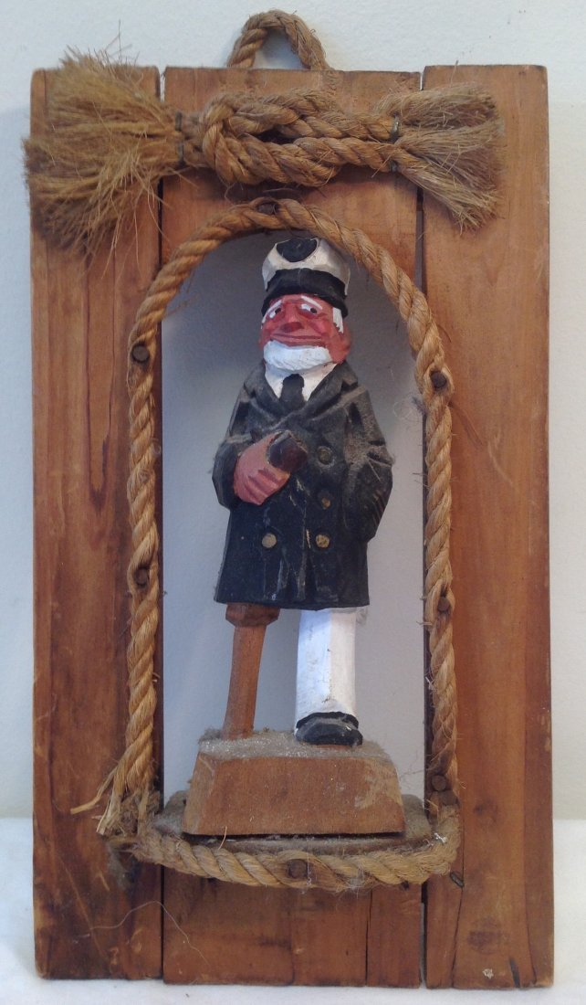 Pirate peg leg wall hanging figurine 10 x 6