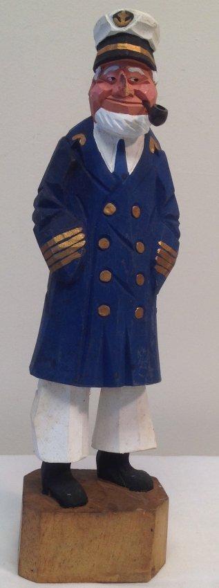 Captain smoking pipe figurine 12 H