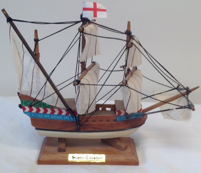 Susan Constant Sail boat model 7 x 7