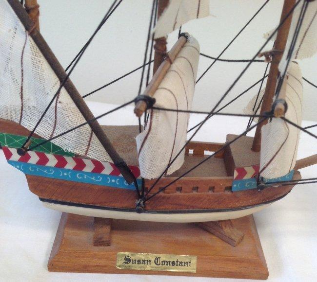 Susan Constant Sail boat model 7 x 7 - 2
