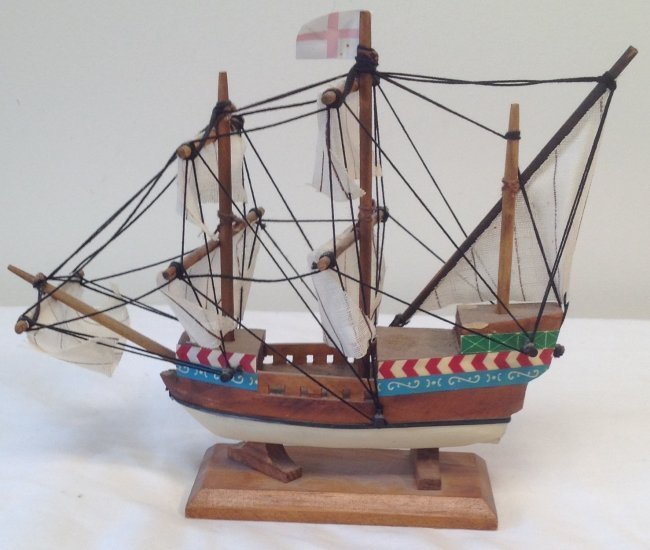 Susan Constant Sail boat model 7 x 7 - 3