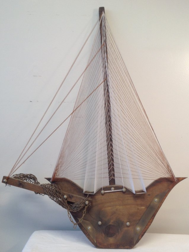 Sail Boat Wall Hanging 32 x 22
