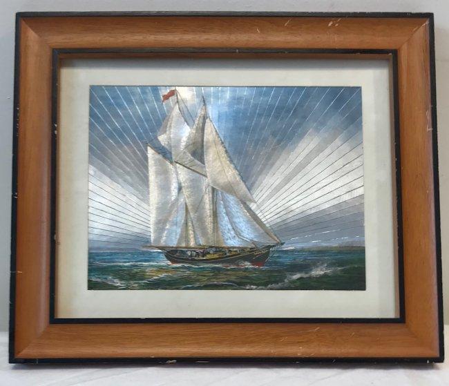 Sail boat Lithograph - 2