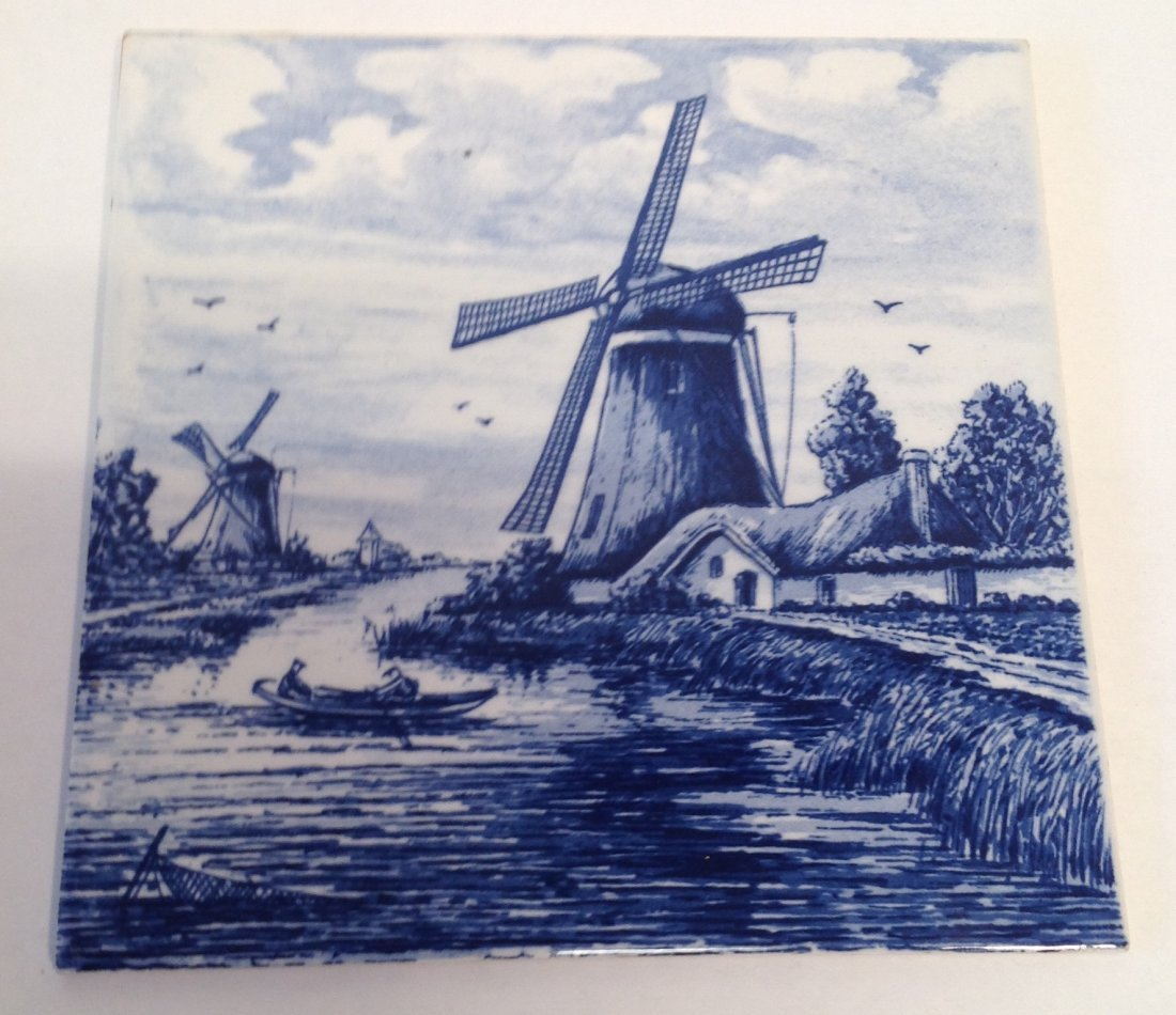 Vintage Dutch Delft Plaque Tile - 3