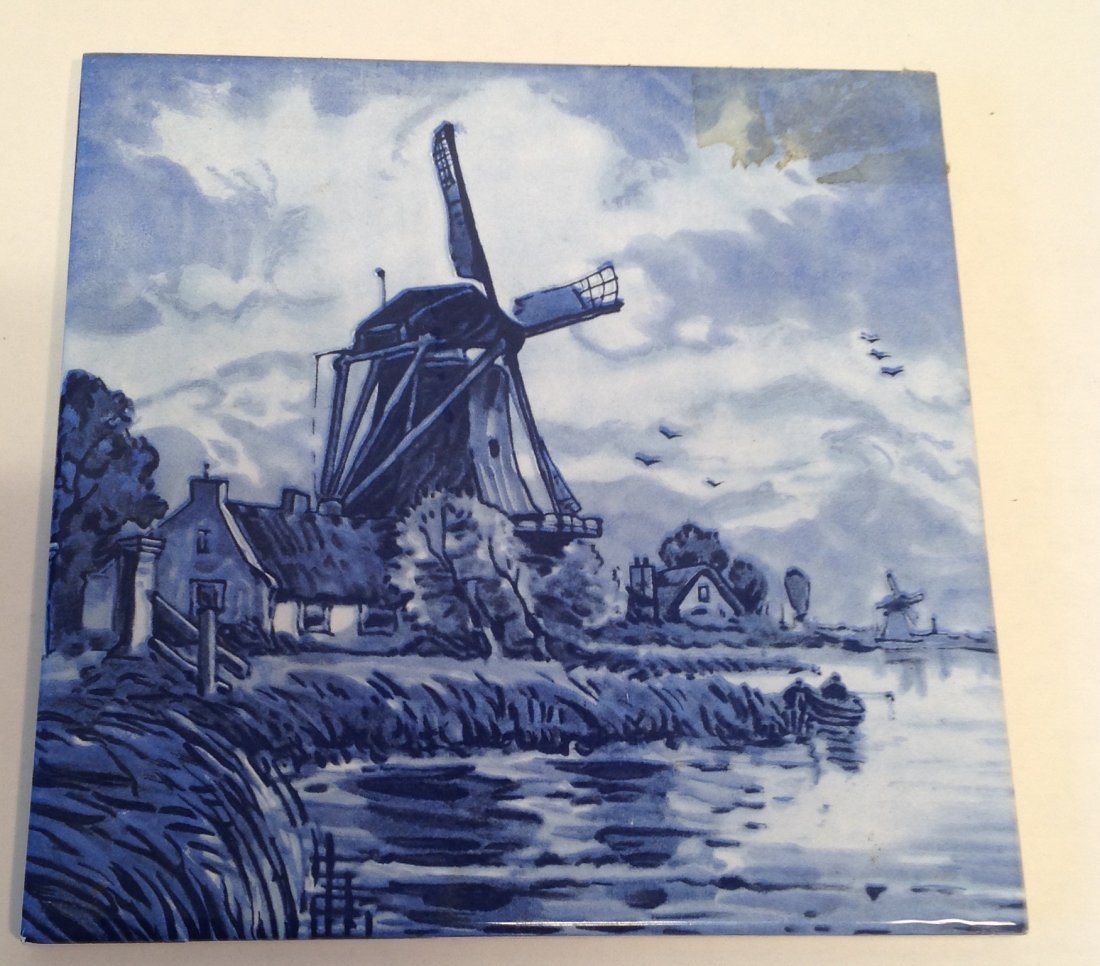 Vintage Dutch Delft Plaque Tile - 4