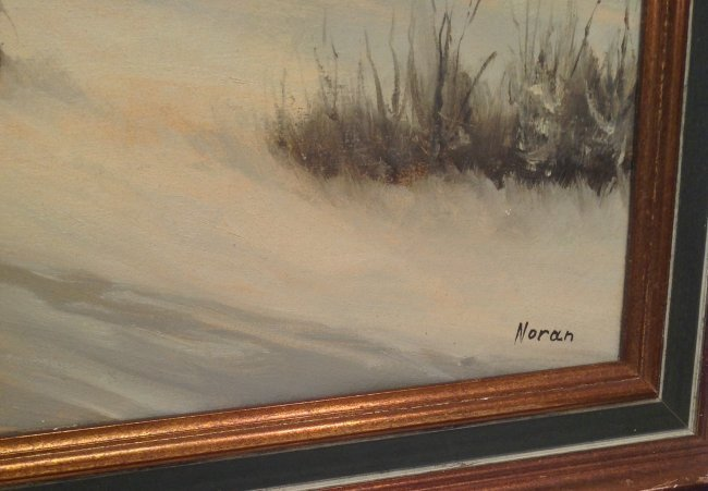 N. NORAN OIL PAINTING FRAMED & SIGNED 42 x 30 - 4