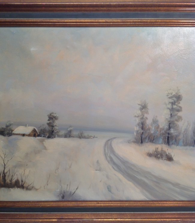 N. NORAN OIL PAINTING FRAMED & SIGNED 42 x 30 - 5