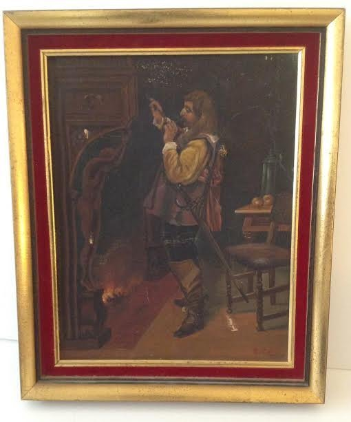 Signed J RENO OIL PAINTING 17 x 13