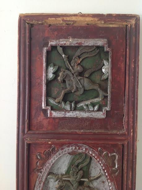 Antique Chinese Wood Panel Artistry Carving 35 x 11 - 2