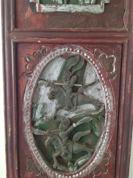 Antique Chinese Wood Panel Artistry Carving 35 x 11 - 3