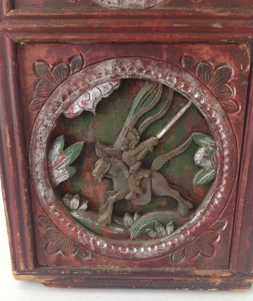 Antique Chinese Wood Panel Artistry Carving 35 x 11 - 4