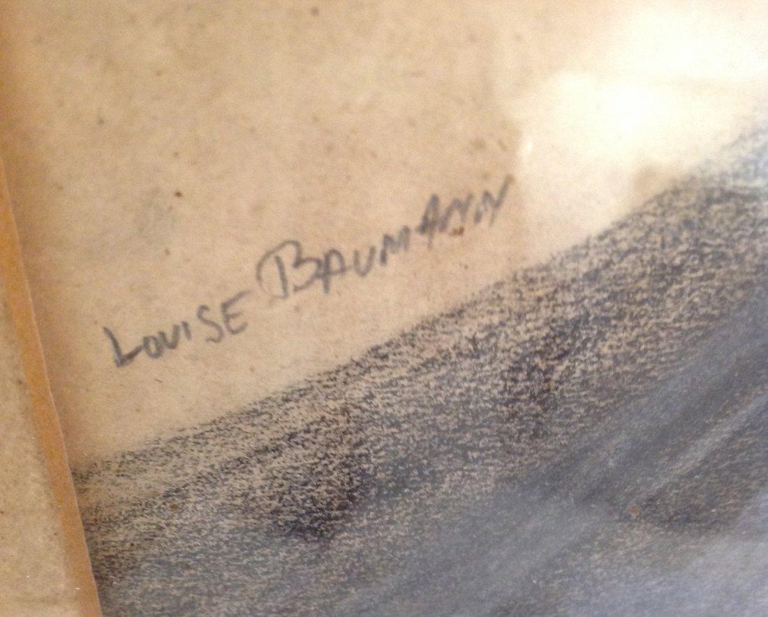 Louis Bauman Charcoal Sketch -The Beard Man 29 x 23 - 3