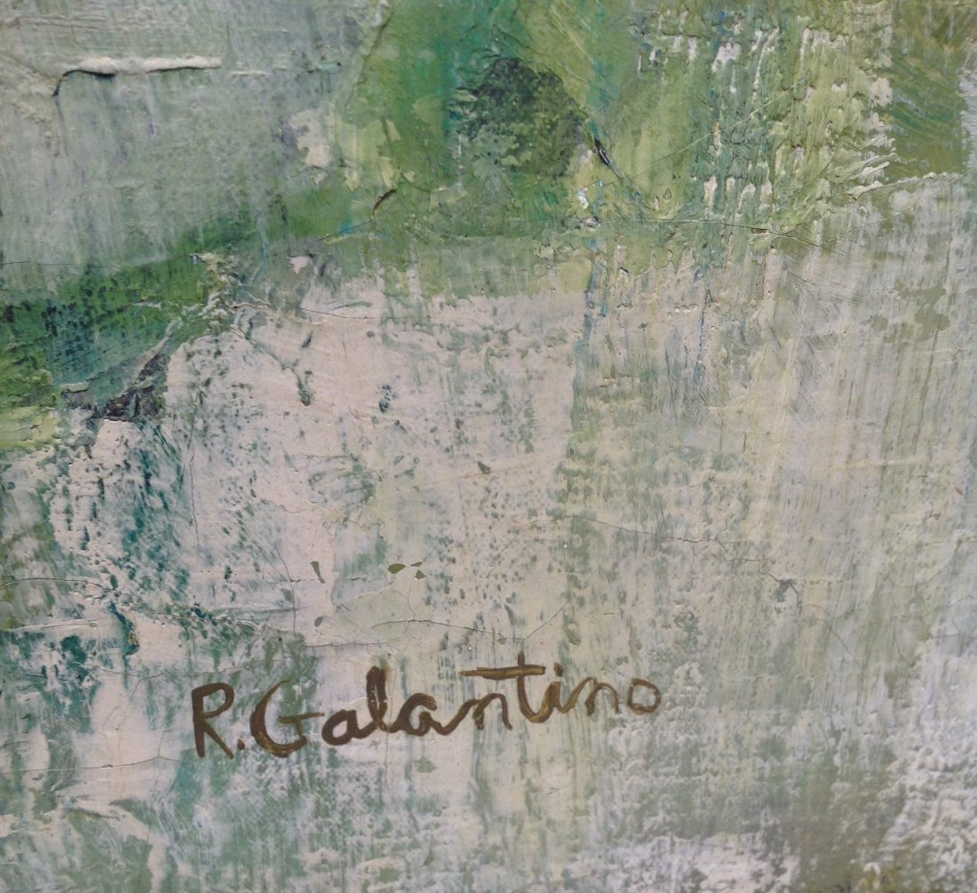 Signed R. Galantino Oil Painting 31 x 44 - 6