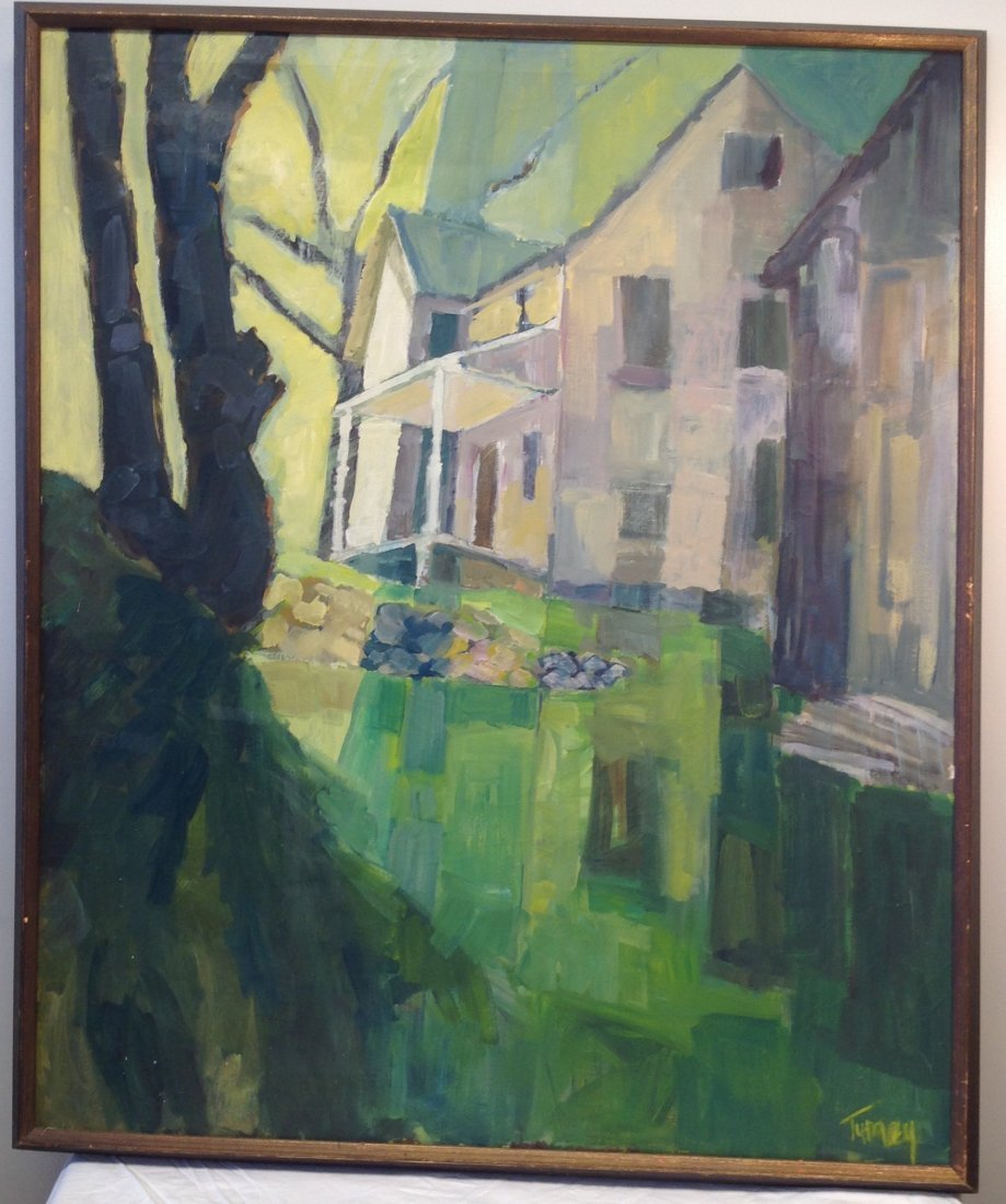 Carol Tumey Signed Painting of House 42 x 50 - 2