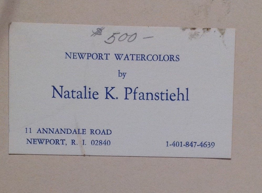 N.A. Panstiehl - The White Cat WATERCOLOR - 6