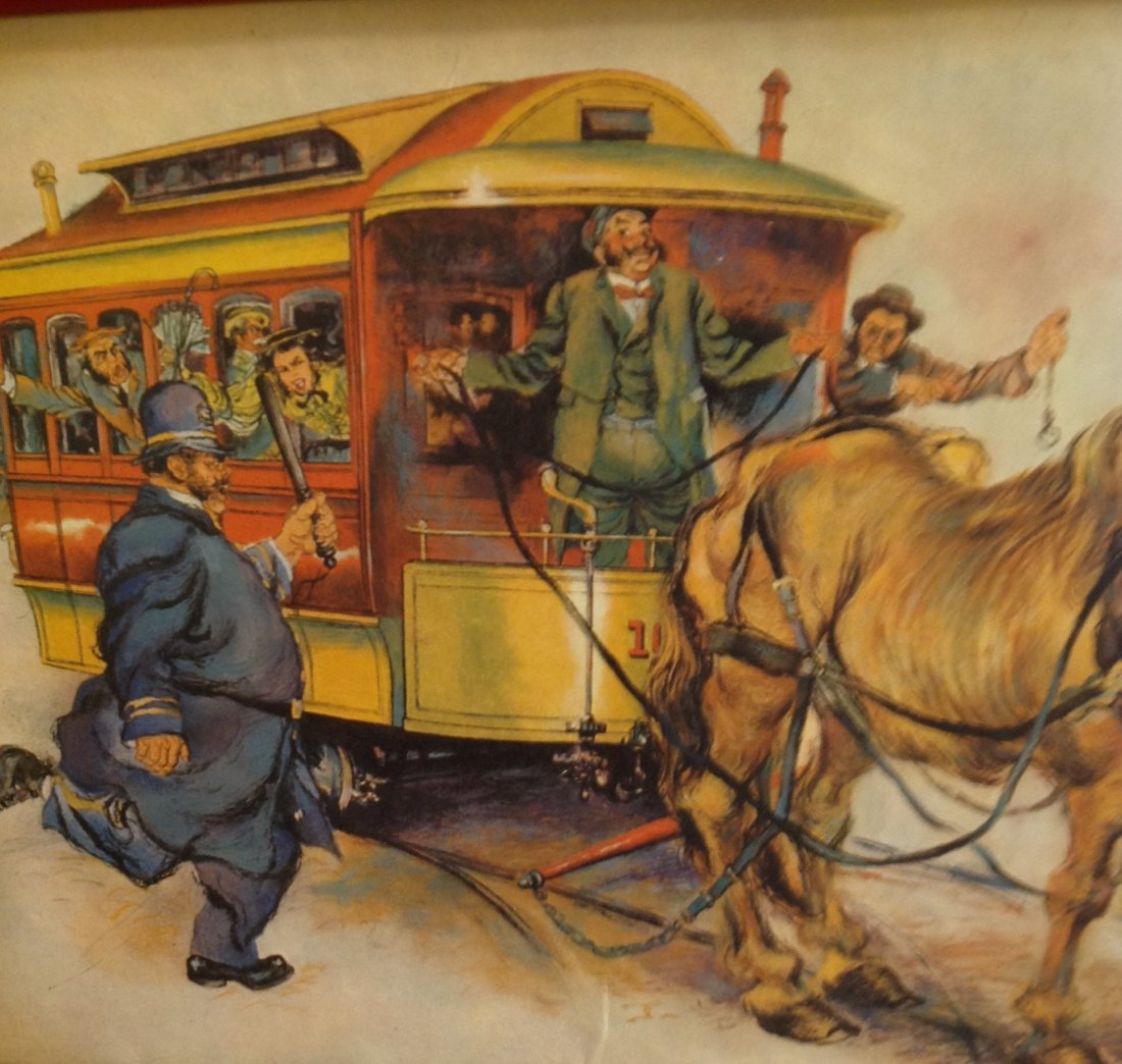 CARICATURE HORSE DRAWN WAGON CARRIAGE/ PRINT ONLY - 3