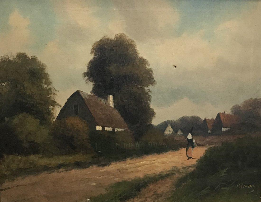 I9 th C. Signed PRILINY Oil Painting 24 X 26