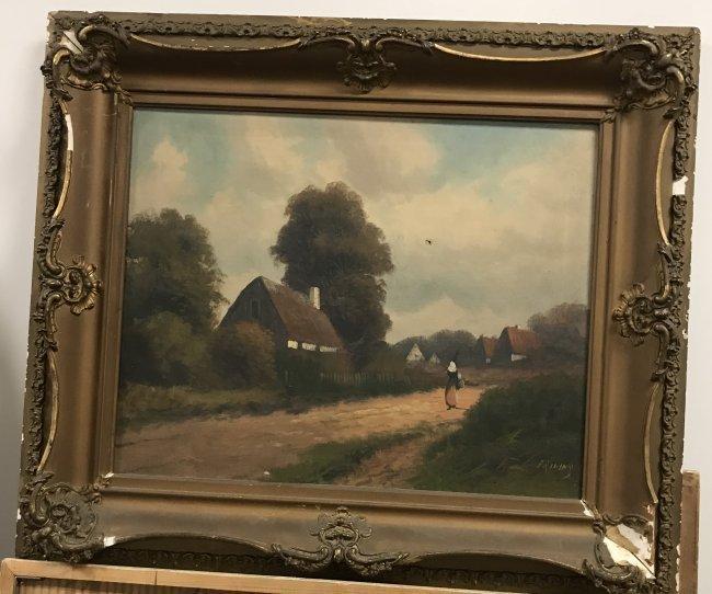 I9 th C. Signed PRILINY Oil Painting 24 X 26 - 2