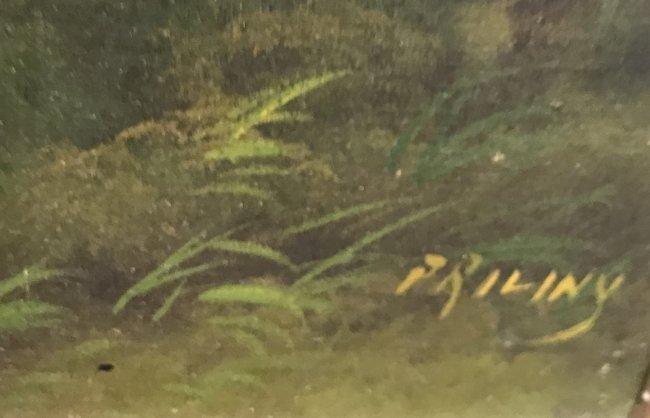 I9 th C. Signed PRILINY Oil Painting 24 X 26 - 3