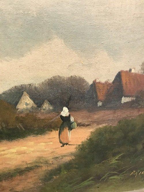 I9 th C. Signed PRILINY Oil Painting 24 X 26 - 4