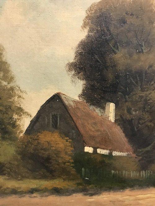 I9 th C. Signed PRILINY Oil Painting 24 X 26 - 5