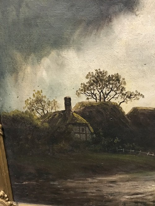 Circa 19th C. Oil Painting Signed B. SILL 21 X 24 - 5