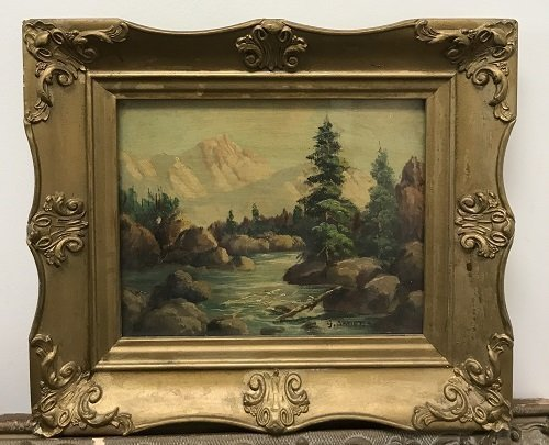 G Anders Signed Oil Painting 14 x 12 - 2