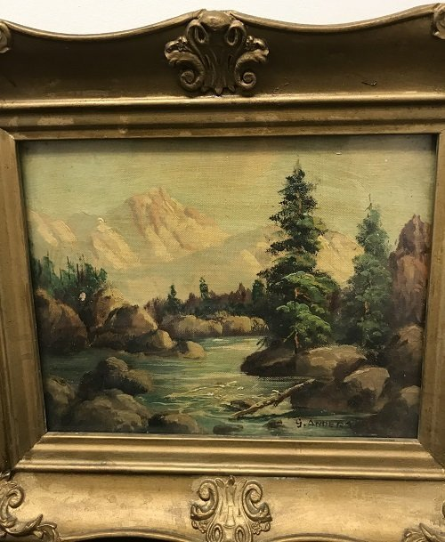 G Anders Signed Oil Painting 14 x 12 - 3