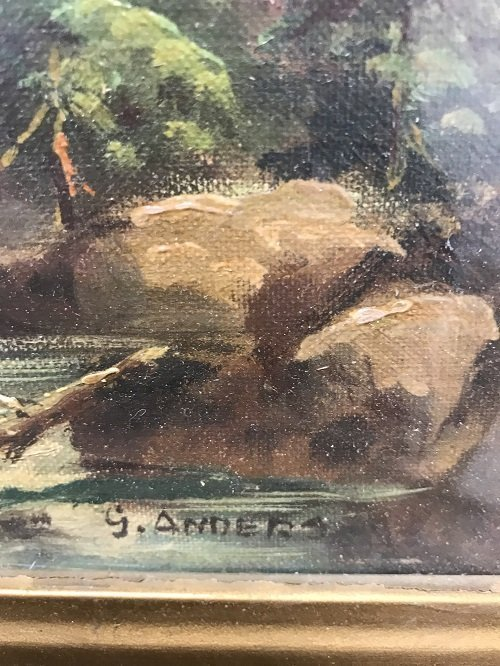 G Anders Signed Oil Painting 14 x 12 - 5