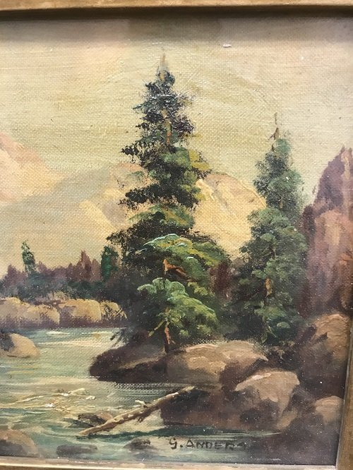 G Anders Signed Oil Painting 14 x 12 - 6