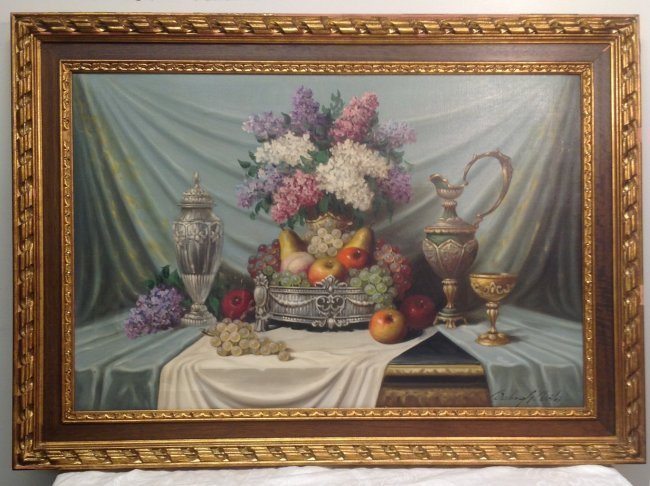 Signed BALOUCH BEILA Oil Style Painting Print  31 x 43 - 2