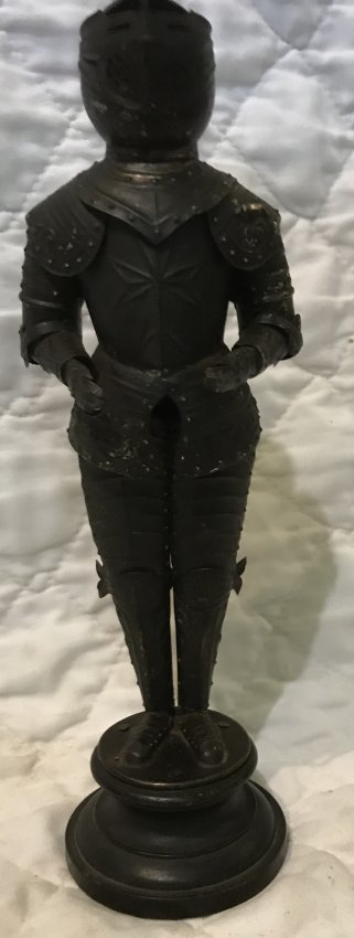 Soldier White Cast Iron Statue 10 Height