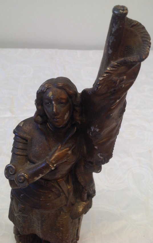 1890 Joan of Arc Statue 14 In Tall - 2