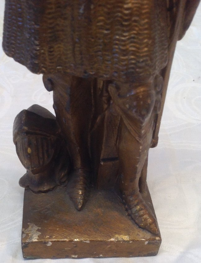 1890 Joan of Arc Statue 14 In Tall - 3