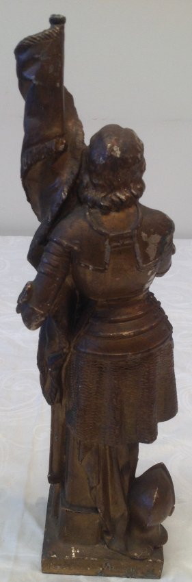1890 Joan of Arc Statue 14 In Tall - 4