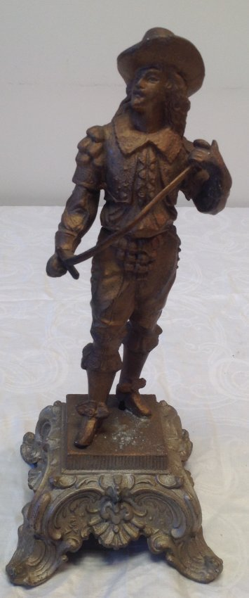 Gallant French Solider Statue 15 In. H