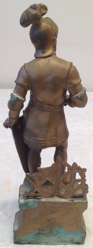 Gallant European Solider Statue W/ Shield 17 In. H - 4
