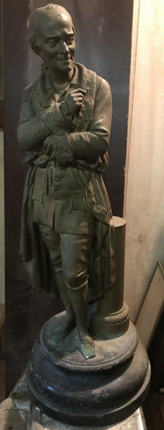 Fredrich Schiller Standing Statue 24 H X 9 W