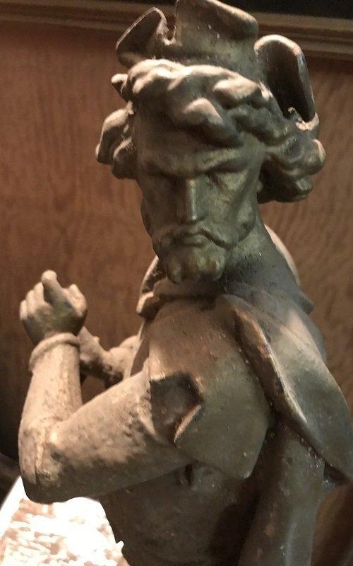 Male Statue with Cape 21 H x 6 W