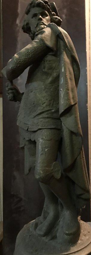 Male Statue with Cape 21 H x 6 W - 2