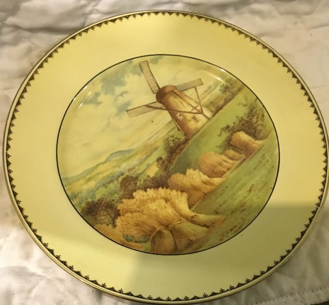 6 Grimsware Dinner Plates 9 Inches Wide - 3
