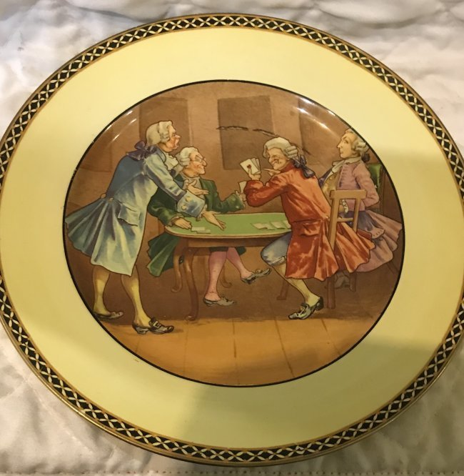 6 Grimsware Dinner Plates 9 Inches Wide - 4