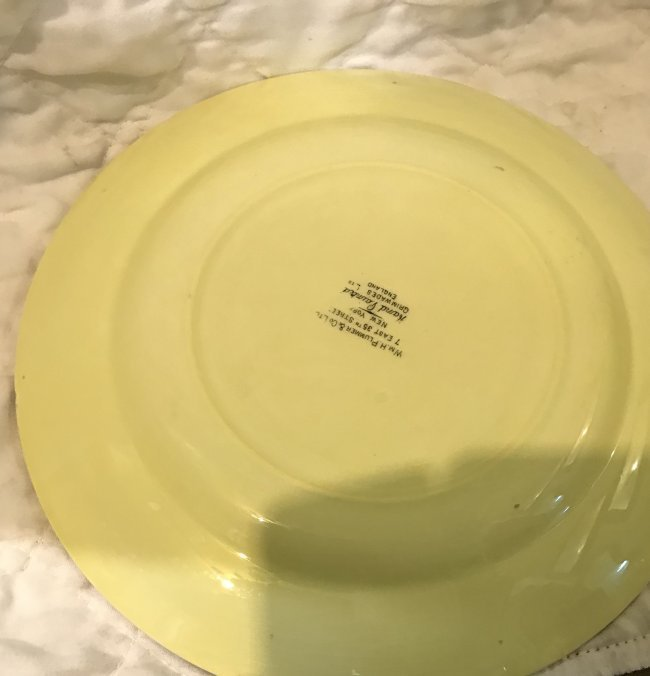 6 Grimsware Dinner Plates 9 Inches Wide - 6