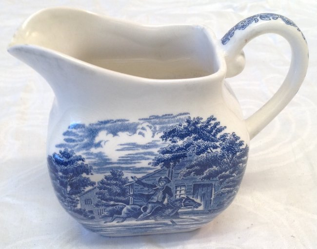 Liberty Blue Creamer 4 Inches H