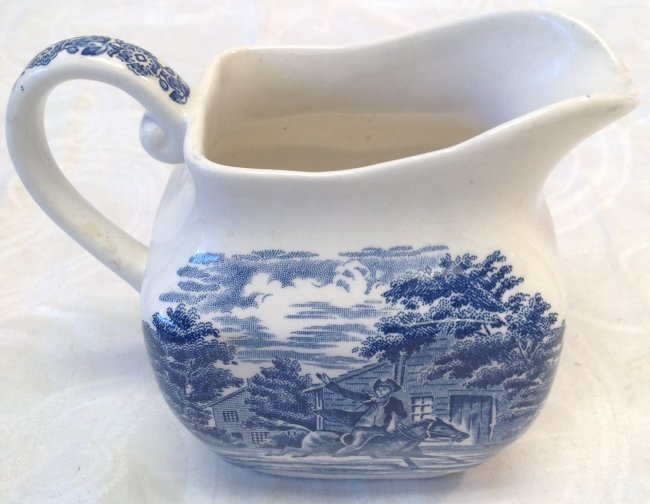 Liberty Blue Creamer 4 Inches H - 3