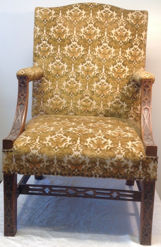 Antique Arm Chair 25 w x 42 H - 2
